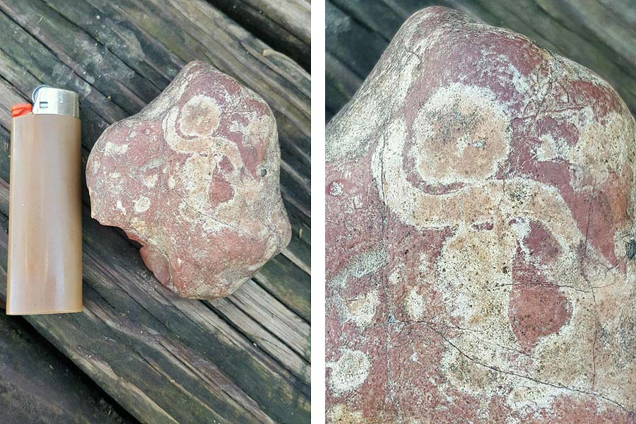 A viewer sent us this picture asking whether it's a petroglyph or a pictograph
