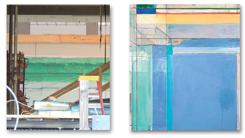 comparing a construction site to a Richard Diebenkorn painting