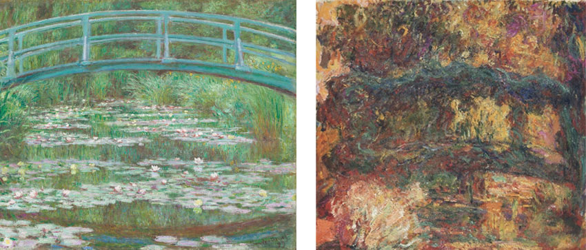 Claude Monet paintings of Japanese bridge