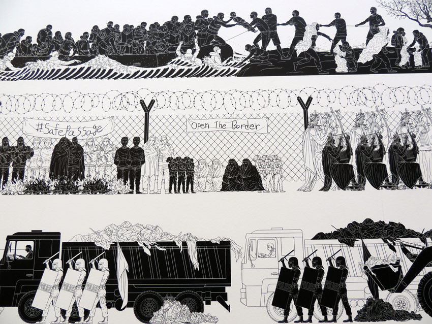 art by Ai Weiwei about Syrian refugee crisis