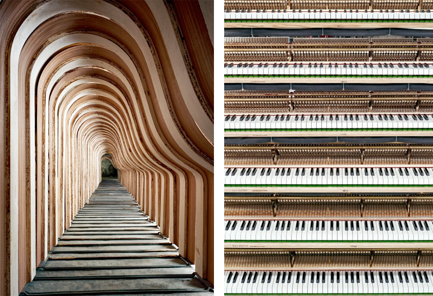 Details of Steinway pianos by Christopher Payne