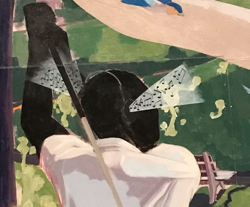 musical notation as sound in Kerry James Marshall paintings