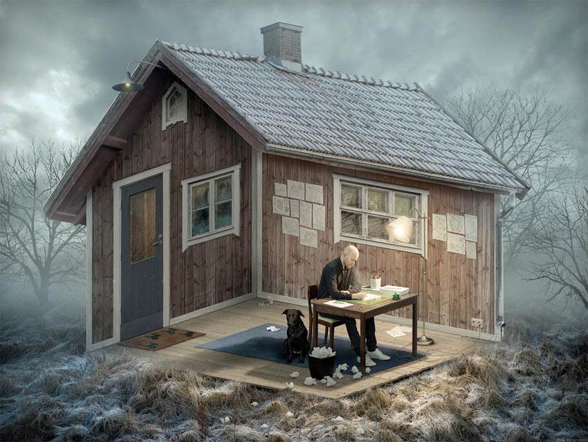 Surrealist photography by Erik Johansson
