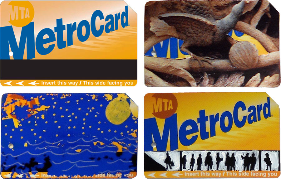nyc metrocard art mta metro cards art from everyday objects