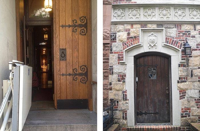beautiful old wooden doors found in New York City & Artistic Doors | Painted doors in NYC | Street art on doors