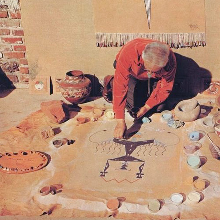 Navajo sand painting native american indian art sand painting as native american indian sand painting freerunsca Images