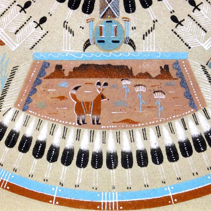 Navajo Sand Painting Native American Indian Art Sand Painting As