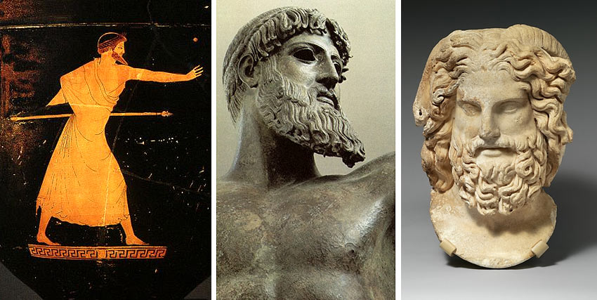 Zeus Greek Mythology Sculptures And Paintings Of Zeus