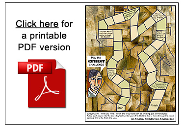 The Cubist Challenge Game   Printable Art Games for Kids   Picasso ...